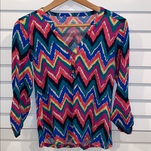 Lilly Pulitzer zig zag blouse size small